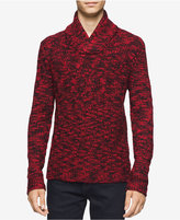 Calvin Klein Men's Asymmetric Cable-Knit Shawl-Collar Sweater, A Macy's Exclusive Style