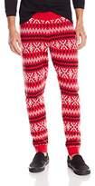 Alex Stevens Men's Slothy Ugly Christmas Jogger Pant