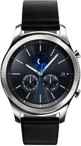 Samsung Men's Gear S3 classic Smart Watch with 46mm case & Black Leather Strap SM-R770NZSAXAR