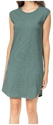 Lilla P Cap Sleeve Dress in Loose Knit Slub (Vine) Women's Clothing