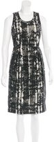 Burberry Nova Check & Floral-Print Dress
