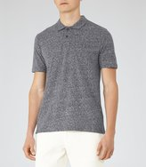 Reiss Halo - Melange Weave Polo Shirt in Blue, Mens