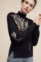 Knitted & Knotted Beaded Fete Turtleneck