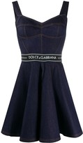Dolce & Gabbana Flared Denim Mini Dress