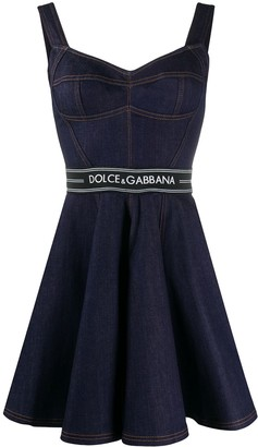 Dolce & Gabbana Flared Denim Mini Dress