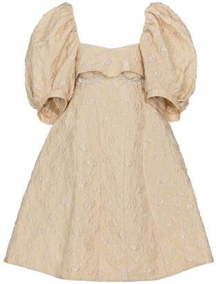 Simone Rocha Exclusive to Mytheresa Embellished cloque minidress