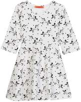 Funkyberry Unicorn Print Dress (Toddler & Little Girls)