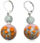 Antica Murrina Veneziana Papaya 1 Orange and Multicolor Murano Glass Earrings