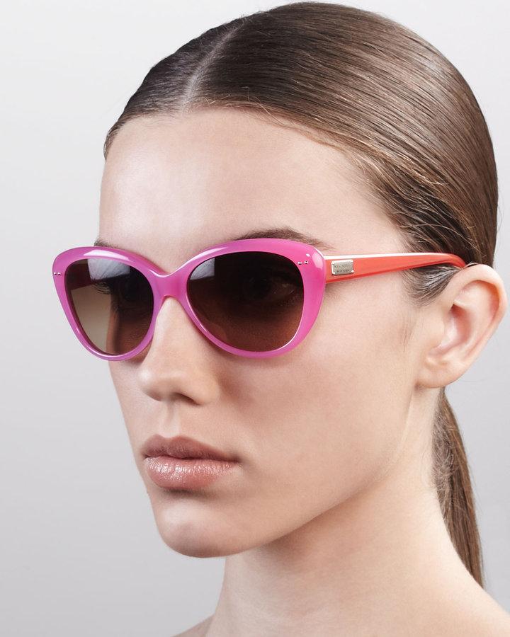 Kate Spade Angelique Cat-Eye Sunglasses, Tortoise/Blush