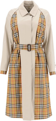Burberry GUISELEY MIDI RAINCOAT 10 Beige, Black, Red Cotton