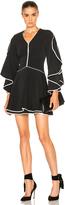 Jonathan Simkhai Ruffle Sleeve Combo Dress