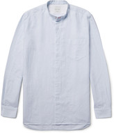 Paul Smith - Slim-fit Grandad-collar Slub Cotton Shirt
