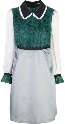 Undercover Textured-Panel Midi Dress