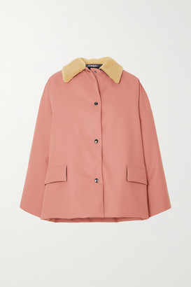 Kassl Editions Shearling-trimmed Padded Rubber Coat - Pink