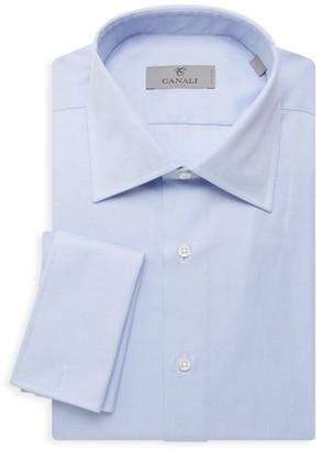 Canali Modern-Fit Silk Dress Shirt