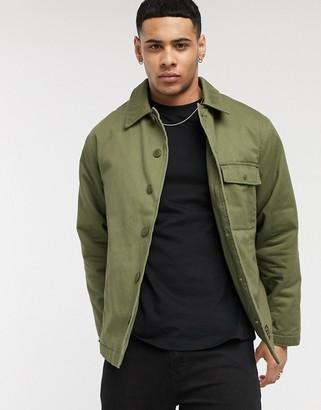 Topman utility jacket in khaki