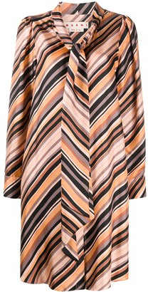 Marni Striped Front-Tie Dress