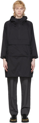 Snow Peak Black Rain and Wind Resistant Poncho Coat