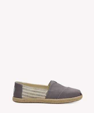 Toms Women's Alpargata Canvas Flats Drizzle Grey Size 10 From Sole Society