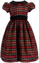 Jayne Copeland Little Girls 2T-6X Peter-Pan Collar Holiday Plaid Dress
