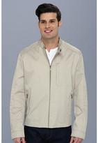 Cole Haan Coated Cotton Moto Jacket w/ Stitch Details