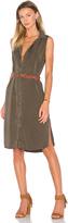 Splendid Wilder Tencel & Chambray Button Up Dress