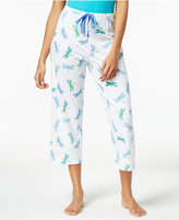 Charter Club Printed Cotton Knit Cropped Pajama Pants, Only at Macy's