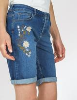 Fat Face Embroidered Denim Bermuda Shorts