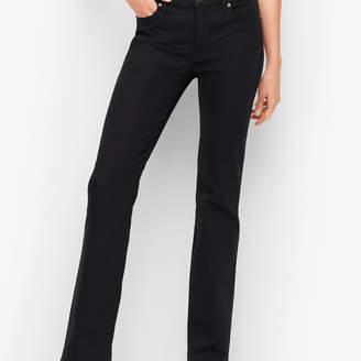 Talbots High-Waist Denim Barely Boot Jeans - Black