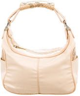 Tod's Snakeskin-Trimmed Mini Hobo