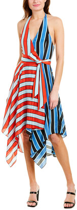 Alice + Olivia Canton Handkerchief Hem Wrap Dress