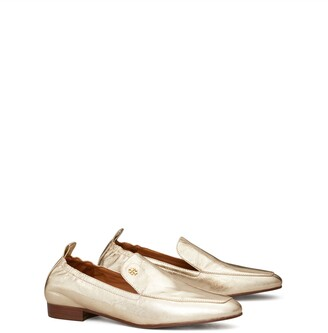 Tory Burch Kira Metallic Stretch Loafer