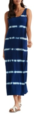Lucky Brand Easy Knit Tie-Dye Maxi Dress
