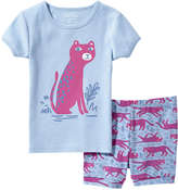Joe Fresh Toddler Girls' Graphic Print Sleep Set, Aqua (Size 2)
