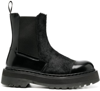 Premiata panelled leather Chelsea boots