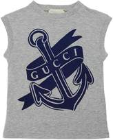 Gucci Anchor Printed Cotton Jersey T-Shirt