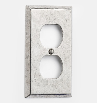 Rejuvenation Pewter Lewis Single Duplex Outlet Switchplate