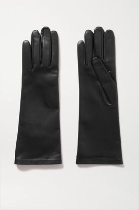 Saint Laurent Leather Gloves - Black