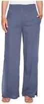 Heather Janis Twill Voile Split Side Wide Leg Pants Women's Clothing