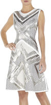 Herve Leger Saira Geometric-Beaded Mesh-Detail Dress