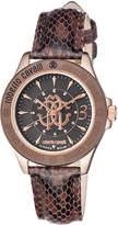 Roberto Cavalli by Franck Muller 37mm Rose Golden Watch w/ Calfskin Leather Strap