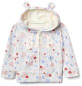 Gap Logo floral bear zip hoodie