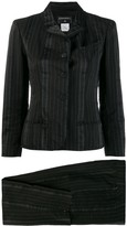 Chanel Pre Owned 2003's striped skinny two-piece suit