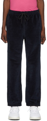 Alexander Wang Navy Bonded Velour Lounge Pants