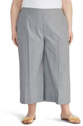 Rachel Roy COLLECTION Check Crop Wide Leg Pants (Plus Size)