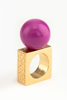 Trina Turk Fuchsia Resin Ball Ring