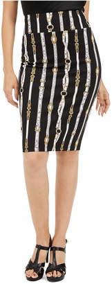 Thalia Sodi Printed Pencil Scuba Skirt