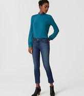 LOFT Modern Skinny Crop Jeans in Mid Stonewash