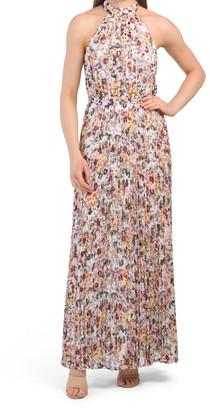 Splatter Floral Maxi Dress