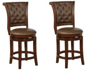 "Charlton Homeâ® Sansome Swivel Bar & Counter Stool Charlton HomeA Color: Espresso, Upholstery: Coffee, Seat Height: Bar Stool (29"" Seat Height)"